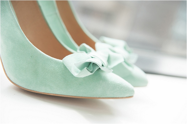A Grand, Town Hall Real Wedding With Art Deco Style Dress, Mint Green Bridal Shoes & Converse