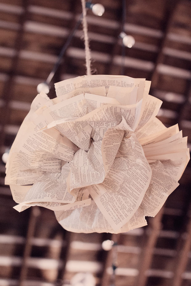 Paper Poms - 30 Amazing Wedding Ceremony & Reception Decoration Ideas