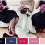 Darkest Blues & Shades Of Pink | Wedding Inspiration
