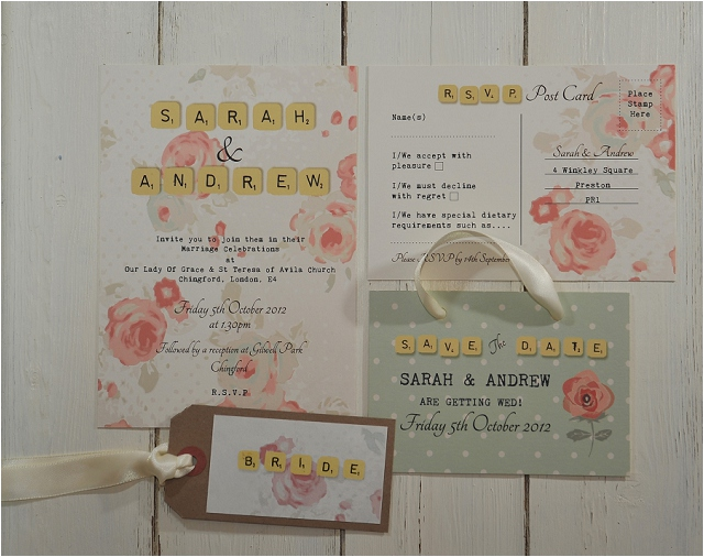 PaperGrace - English Rose wedding stationery