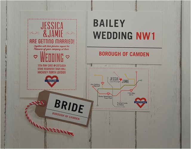 PaperGrace - London town wedding stationery