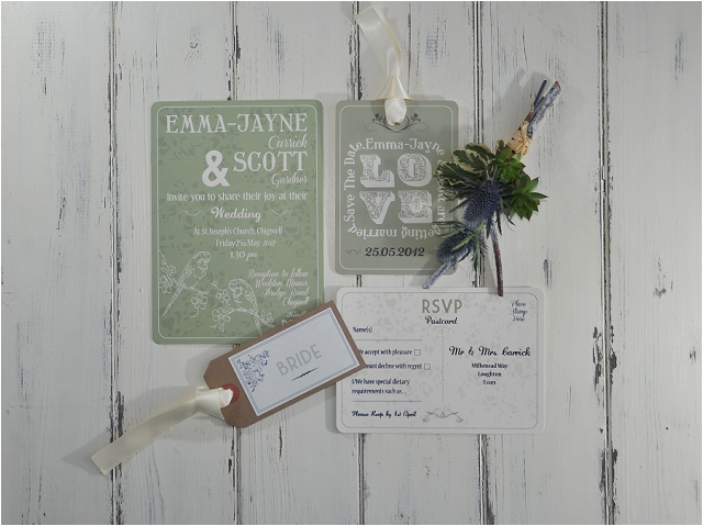 PaperGrace - Perching Birds wedding stationery