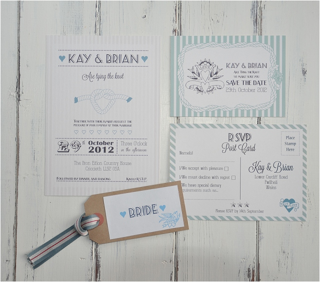 PaperGrace - Sailor Sailor Wedding Stationery