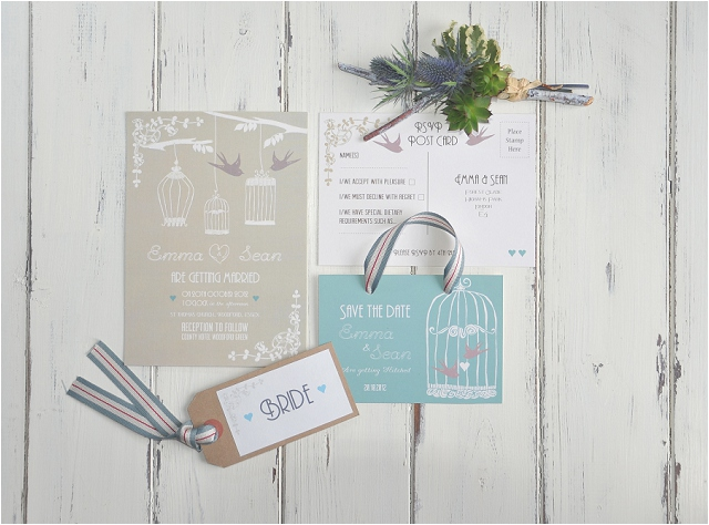 PaperGrace - Vintage Birdcage wedding stationery
