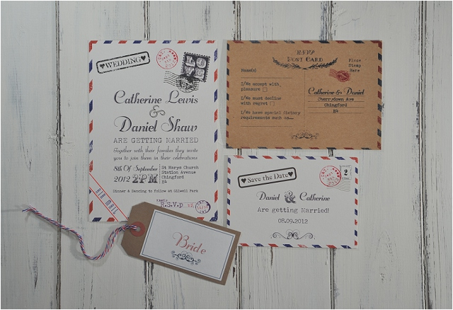 PaperGrace - Vintage Post wedding stationery