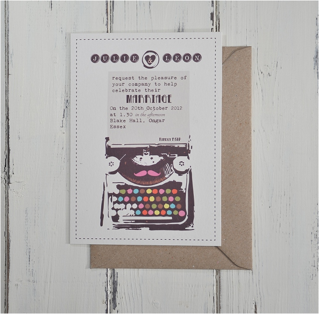 PaperGrace - Vintage Typewriter invitation