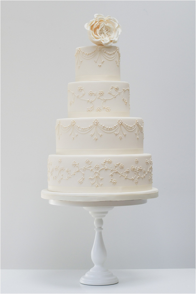 Piped Embroidery wedding cake - Exclusive To Harrods | Wedding Cakes From Talented Rosalind Miller