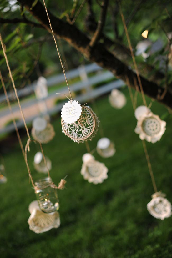 Reception Decor Ideas - Doilies