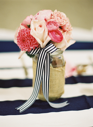 Navy, pink & gold Wedding Inspiration