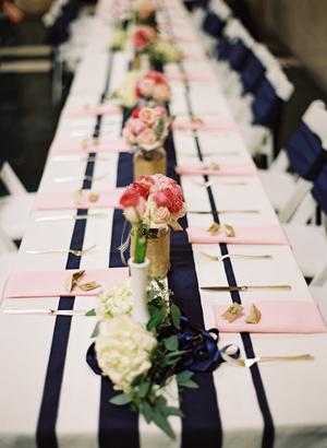 Navy, pink & gold Wedding Inspiration