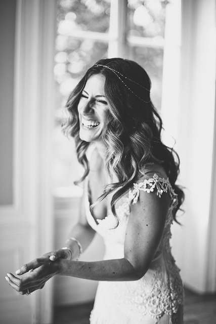 Beautiful vintage boho bride