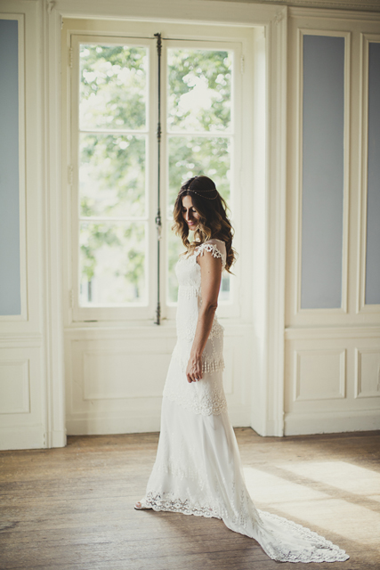 Beautiful vintage boho Claire Pettibone Bridal Gown