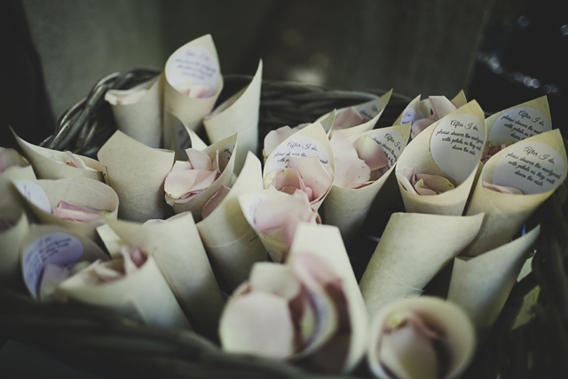 vintage natural flower confetti