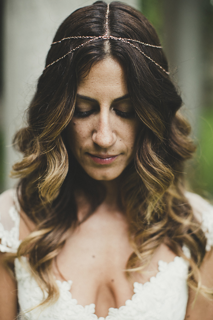 boho bride head jewellery