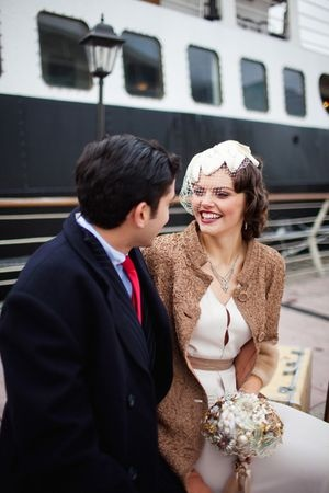 Vintage Travel Wedding Couple