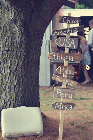 Vintage Travel Wedding Signage