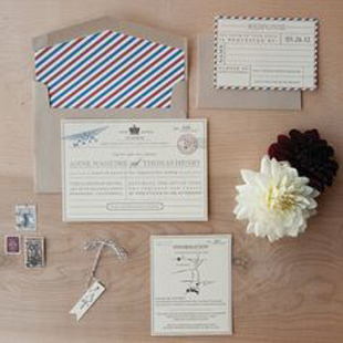 Vintage Travel Wedding Stationery