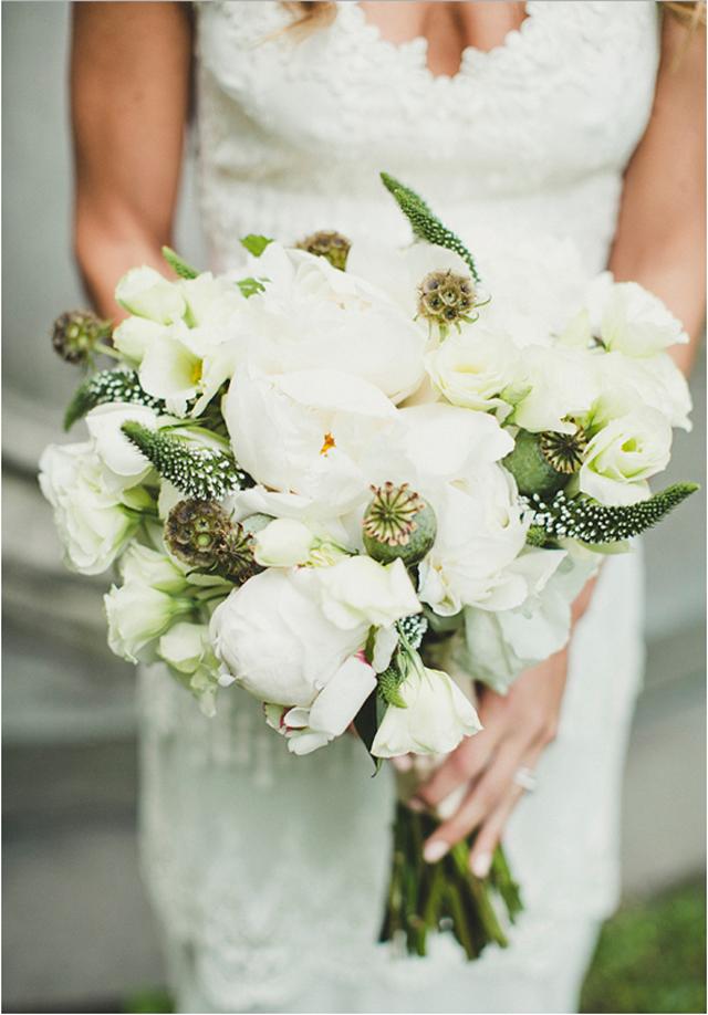 Beautiful vintage charm & locket wedding bouquet