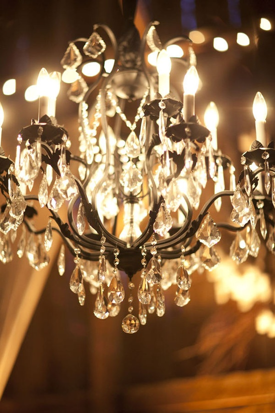 wedding reception ideas: hanging decor