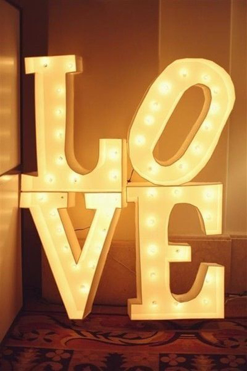 wedding love lights