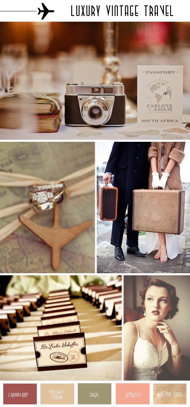 Come Fly With Me? Luxury Vintage Travel | Wedding Inspiration & Ideas