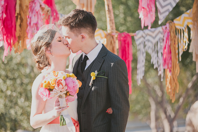 modern and cool wedding bunting