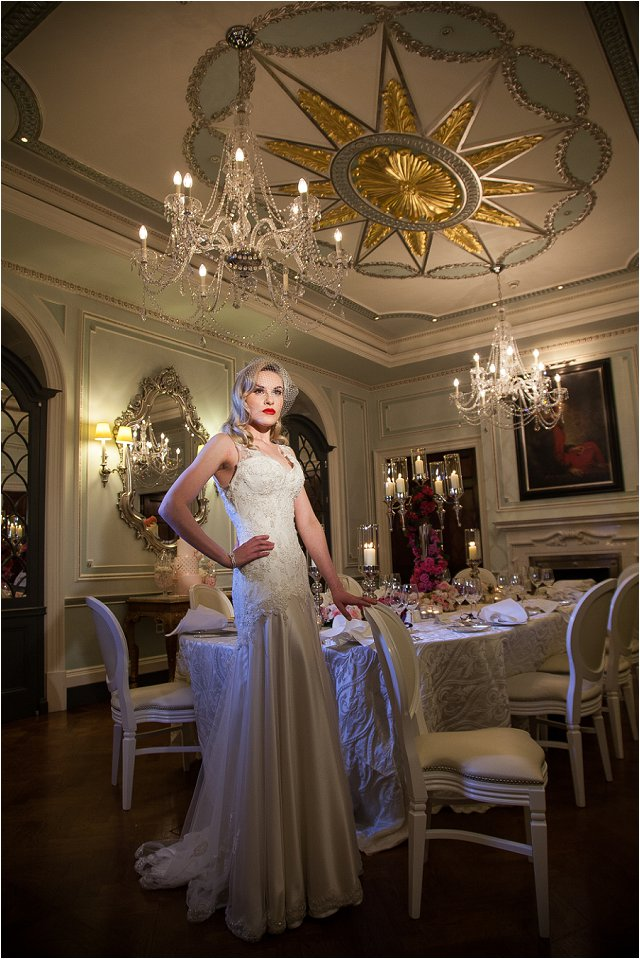 Opulent Splendor A 1950s Hollywood Glamour Inspired Bridal Shoot_0003