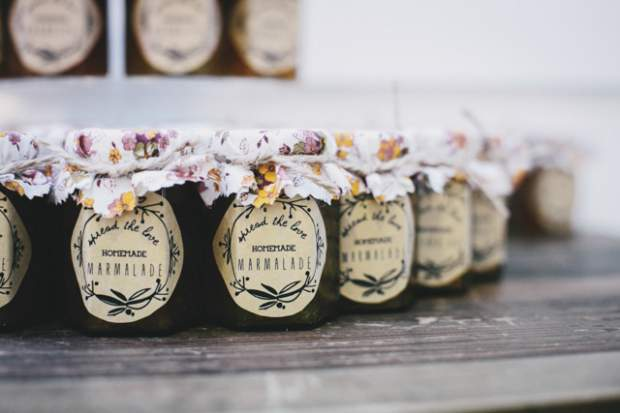 Marmalade Wedding Favours