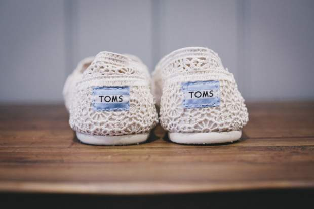 Wedding Shoes - Crotched Toms