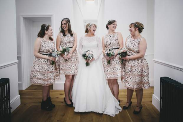 Polka dot bridemaids