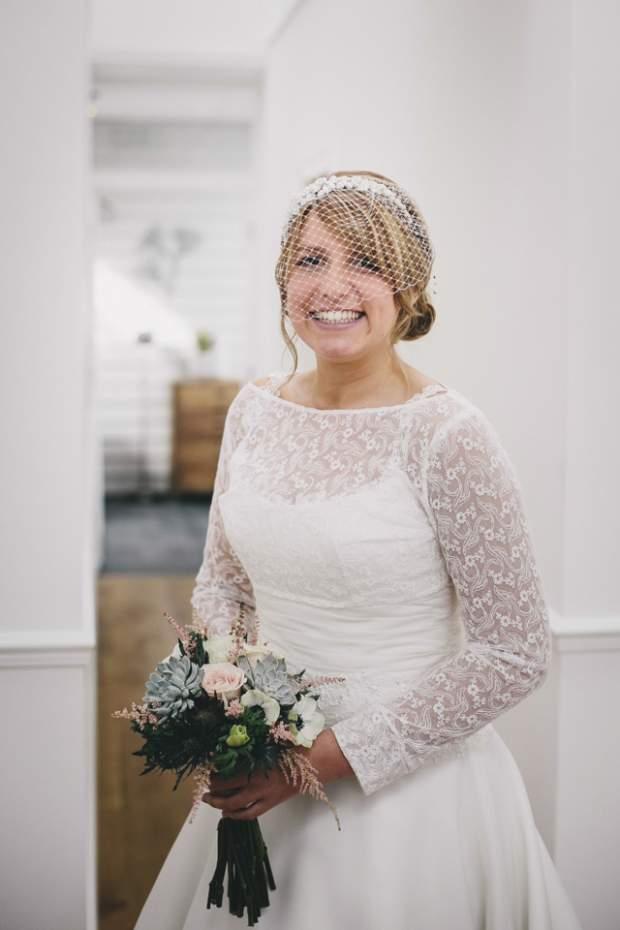 Vintage lace bolero wedding dress