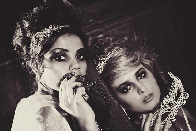Gorgeously Dark and Glamorous Masked Shoot | A Masquerade Bride!