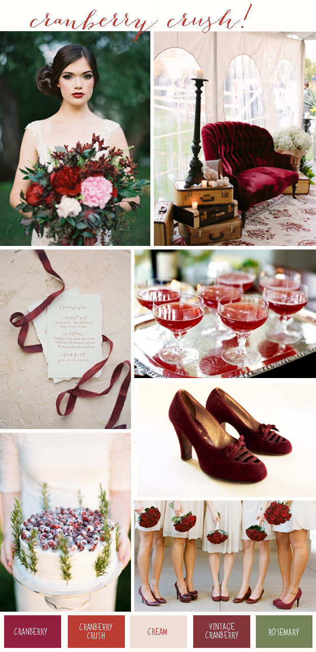 Cranberry Crush Colour Inspiration: Wedding Ideas