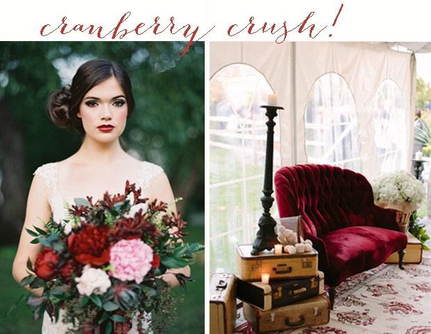 Cranberry Crush Colour Inspiration: Wedding Ideas