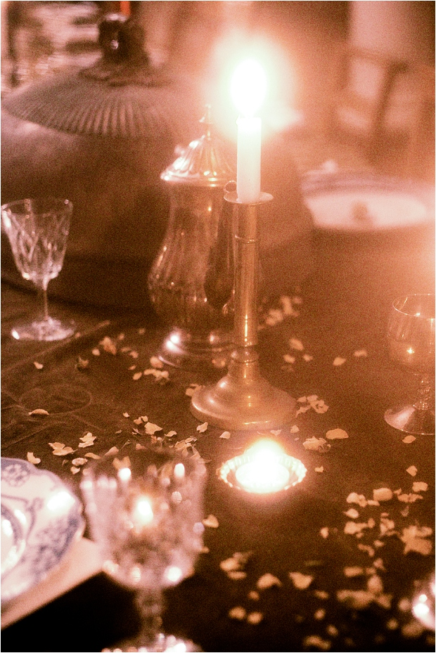 A Candlelit Wedding With A Bohemian Vintage Vibe