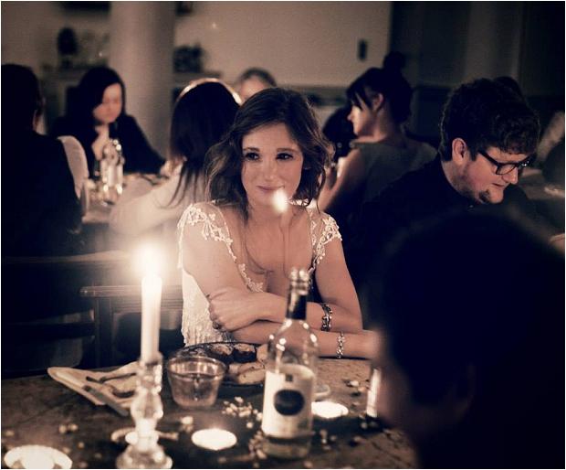 156. Dinner- bride & groom