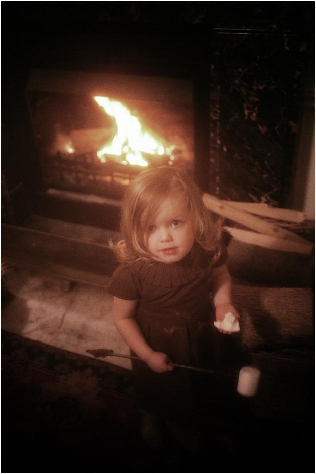 173. Raphaelle eating her marshmallow
