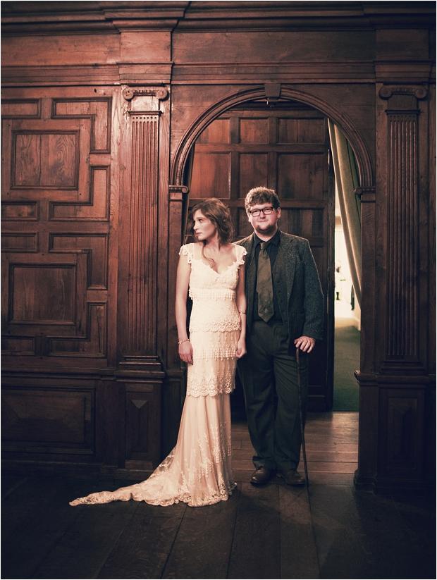 93. Bride & groom- archway