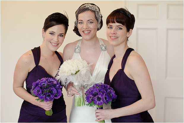 1930s Influenced Wedding: Black, White & Aubergine [part 1]