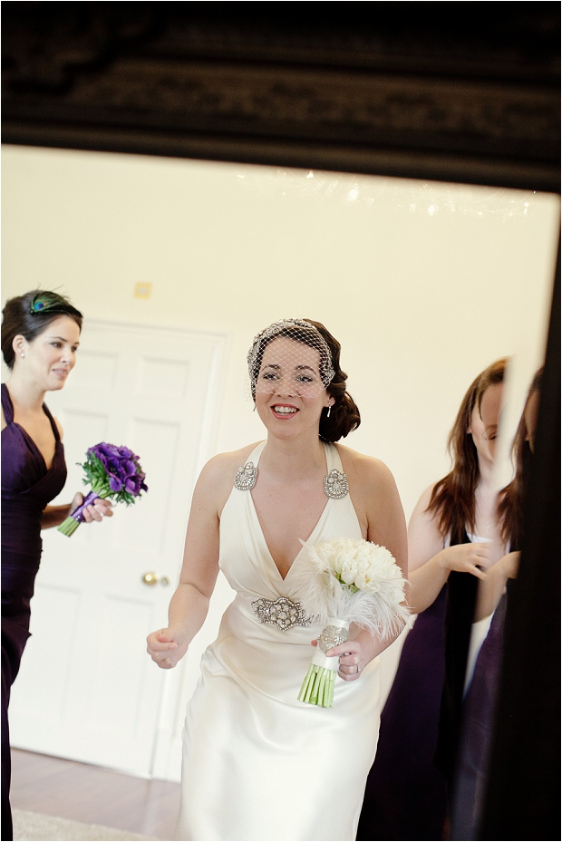 A Modern Vintage | 1930s Influenced Wedding: Black, White & Aubergine