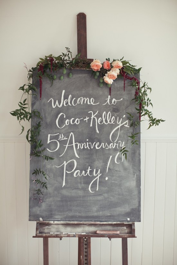 Welcome chalk and blackboard signage