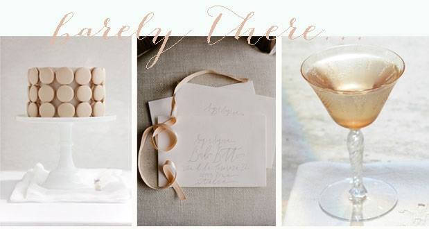 Barely There | Nude, Ivory & Cream Wedding Inspiration