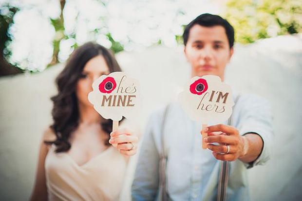 bride & groom signage - he's mine!