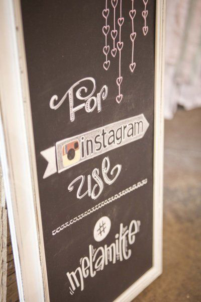 instagram my wedding signage