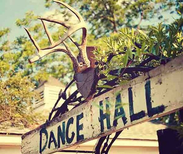 rustic dance hall signage