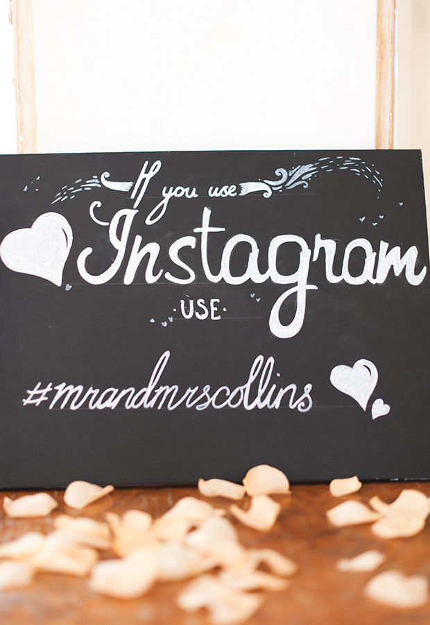Instagram wedding signage