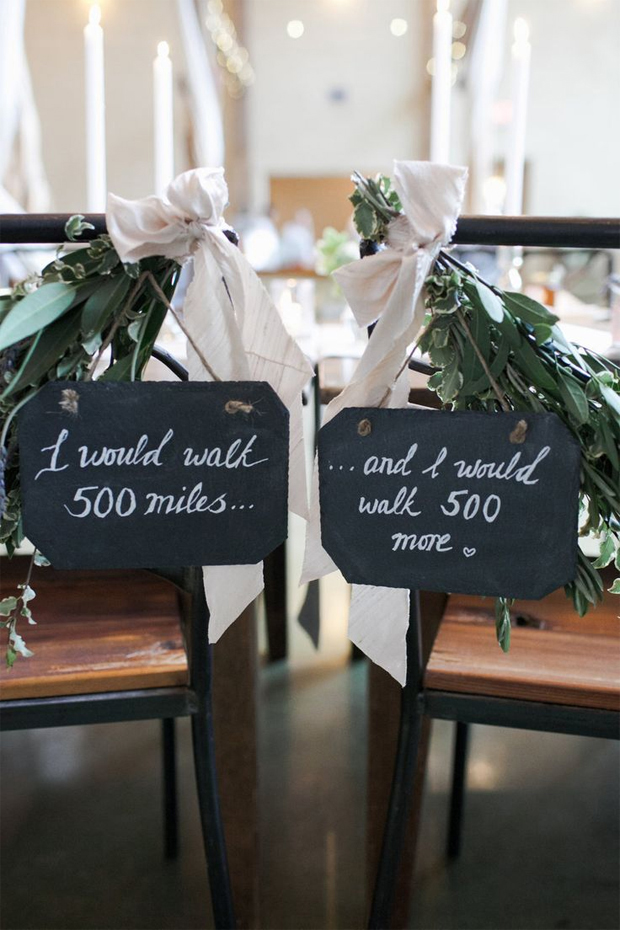 I would walk 500 miles Chair Signage