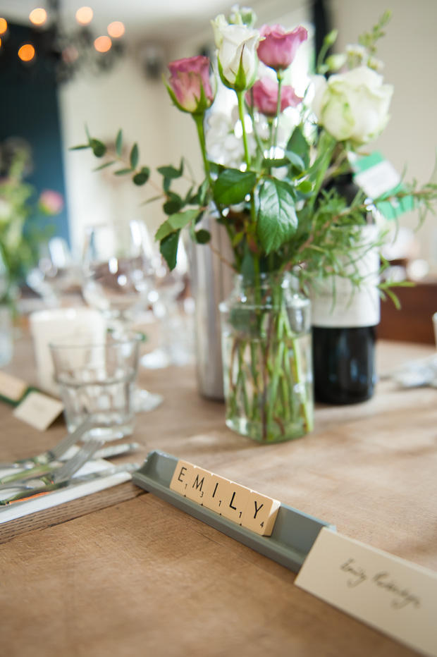 A Laid Back, Literary | Scrabble Themed: Real Wedding