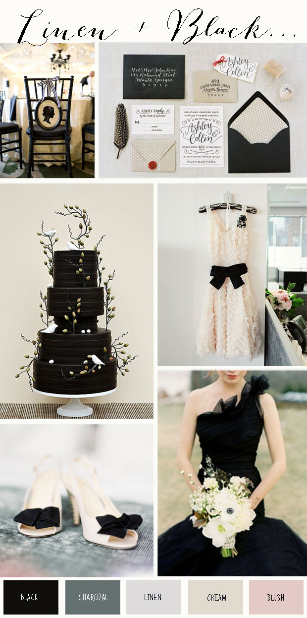 Linen & Black: Wedding Colour Inspiration