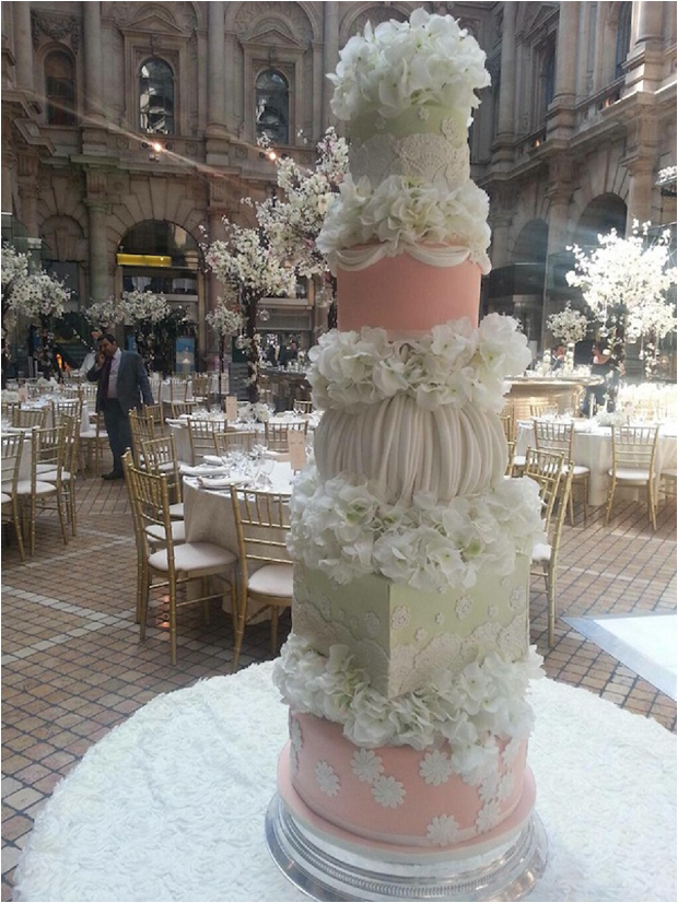 The Prettiest & Coolest Wedding Cake Trends For 2014 By Elizabeth 's Cake Emporium_0001